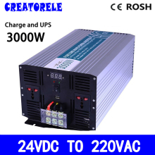P3000-242-C inverter 24V to 220vac Pure Sine Wave inverter 3000w solar inverter voltage converter with charger and(China)