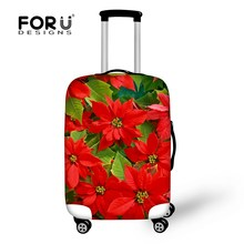 FORUDESIGNS 3D Flower Printing Elastic Luggage Protective Cover For 18''-30''inch Suitcase Trunk Case Waterproof Rain Cover 2017