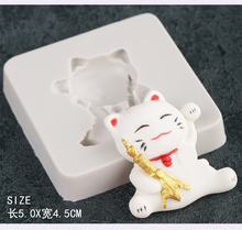 Lucky Cat silicone fandont mold Lucky Cat Silica gel moulds Chocolate molds cats candy mould cats silicone molds Button moulds