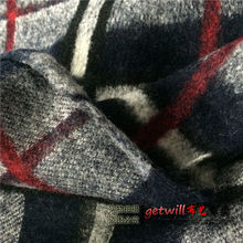 Special clearance! Closely knit wool plaid wool fabric printing clothing wholesale wool cloth