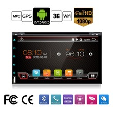 Quad Core Car Electronic autoradio 2din android 6.0 car dvd player stereo GPS Navigation WIFI+Bluetooth+Radio+3G+TV (Option)(China)