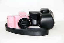 High Quality PU Leather Hard case Camera Bag for Samsung NX1000 NX2000 Camera With Strap+ Tracking shipping
