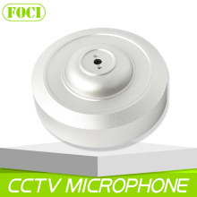 Anti-Noise CCTV Mic Microphone Aluminum Alloy Housing DC 12V Adjustable Audio Pick Up Sound Pickup Indoor Use