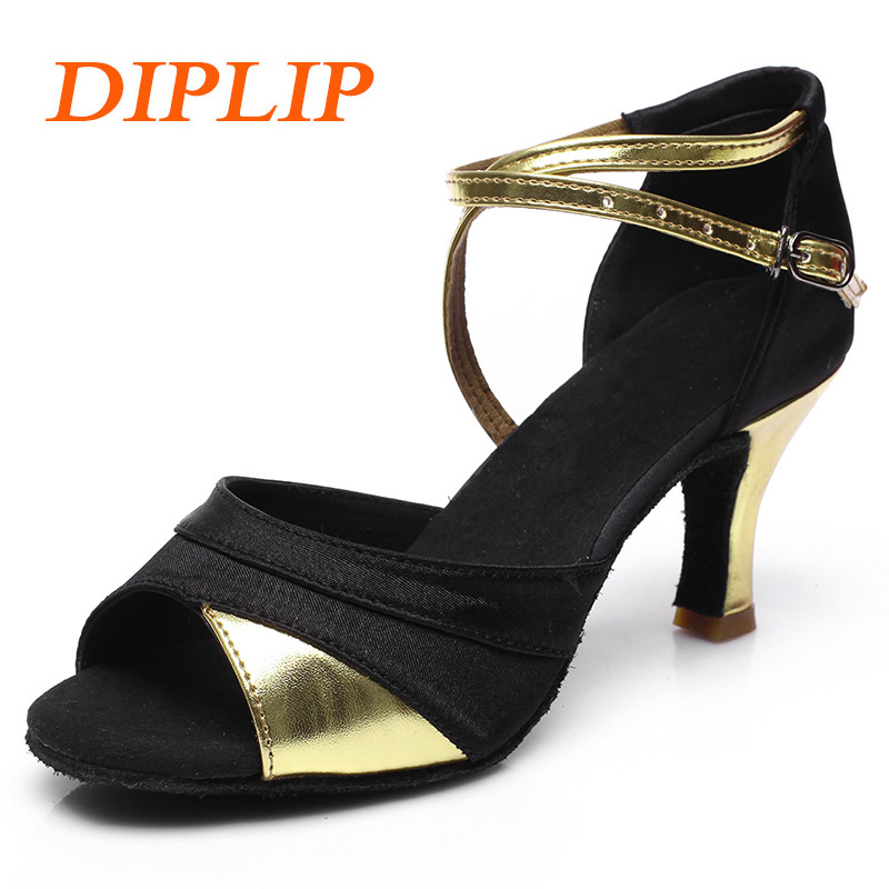 DIPLIP For Women Hot Sales Brand New  Latin Dance Shoes Heeled Tango Ballroom Girls  Salsa soft Ballroom Dance Dancing Shoes(China)