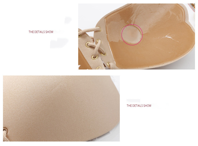 Seamless Invisible Bra Adhesive Silicone Backless Bralette Strapless Push Up Bra Sexy Lingerie Fly Bra Women Underwear 32