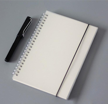 25K A5 Transparent Plastic PP Notebook , Small Rings Journal Diary blank check lined dots,  graffito book