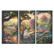 3 Piece Thomas Kinkade Gone With The Wind, Hd Canvas Print Home Decoration Living Room Bedroom Wall Pictures Art Painting
