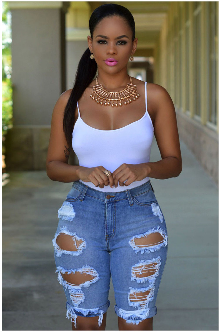 Short Jeans Women 2017 Hot Summer Style High Waisted Ripped Denim Distress Shorts Jeans Casual Hole Rock Boyfriend Jeans ShortsОдежда и ак�е��уары<br><br><br>Aliexpress