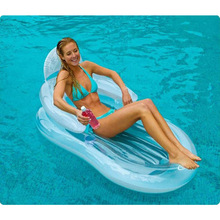 Transparent Armrest Backrest Recliner  Floating Bed Beach Pad Sitting Floating Row