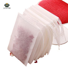 Hot100Pcs/one-time Batch of Tea Bags Empty Aroma Tea Bag And String Treatment Sealed Filter Paper Herbal Loose Tea Kitchen Tools