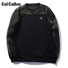 Autumn Fashion Men Hoodie Casual Cotton Camo Green Male Sweatshirts Brand Long Sleeve Camouflage Men's Camouflage Pullover Man(China)