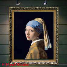 Print Oil Painting on Cotton Canvas Painting Abstract Wall Art Girl with a Pearl Earring (Het meisje met de parel) No Frame(China)