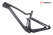 29er full suspension carbon mtb frame mountain bike frame UD matt 29ER+frame/headset/142*12 Thru axle(China)