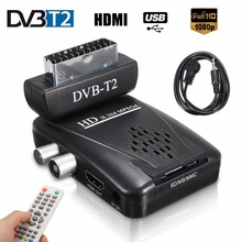 Mini Scart SAT Free Satellite TV Channels Receiver DVD-T2 Receiver HD 1080P DVB-T2 Digital TV SCART Satellite Receiver EU/US