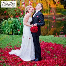 FENGRISE 1000 Pieces Artificial Silk Rose Petals Decorative Crafts Table Decor Confetti Wedding Engagement Party Events Supplies(China)