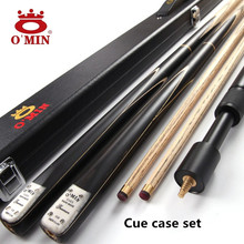 O'MIN Snooker Cue, Model Gunman, 145cm Length, 9.8mm-10mm Cue Tip, 3/4 Jointed cues, Handmade Billiard Stick,Free Shipping