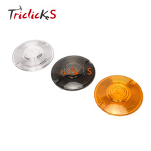 Triclicks Round New Turn Signal Len Covering Fit Harley 86-16 Electra Glides Road King Heritage Motorbike Lights Led Lens Cover