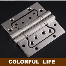 Quiet,304 Stainless steel interior doors hinges, thickness 2.5mm, bearing hinge folding ,Lubricated bearings, 2 pcs(China)