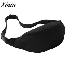 Xiniu Waist Packs For Unisex Waist Bag Waterproof 2 liters Solid Oxford Waist Bag mochila feminina women travel waist bag#PCSL