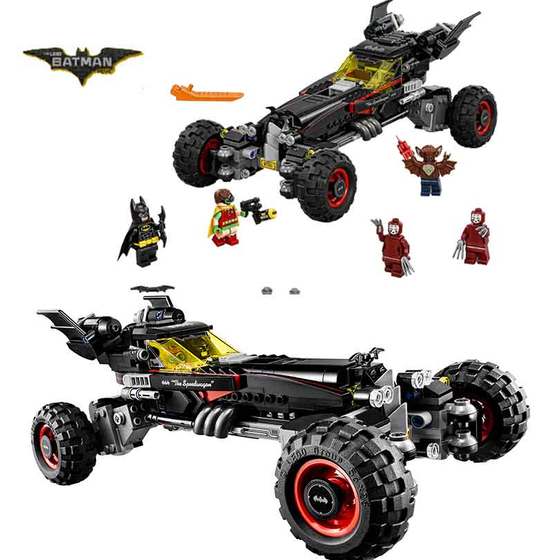 2017 LEPIN 07045 Batman Movie Batmobile Features Robin Man-Bat Kabuki  Building Block Toys Compatible with Legoe Batman 70905<br>