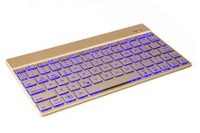 HOT! Factory sale KEYBOARD Bluetooth 3.0 with 7 colors LED back light Ultra slim Wireless Keyboard for LAPTOP DESKTOP TABLET
