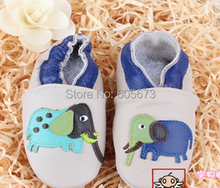 2016  soft leather baby shoes100% Head Layer Cow shoes lovely elephant khaki shoes toddler shoes baby shoes melee.