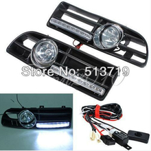 Dongzhen LED Fog Light Day Running Lamp Front Bumper Grill For 99-04 VW Jetta Bora Mk4(China)