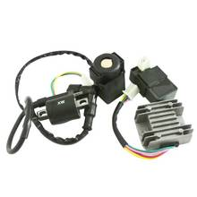 CDI Unit 4Pin Regulator Rectifier Ignition Coil 110cc 125cc Quad Dirt Bike ATV