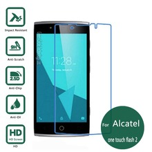 For Alcatel one touch Flash 2 Tempered glass Screen Protector 2.5 9h Safety Protective Film on onetouch Flash2 Two Dual sim(China)