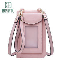 BOYATU Genuine Waterproof Phone Bag Case Iphone Android Leather Fashional Cute Young Girls Travel lovely Durable Practical Bags