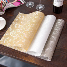 4pcs/set Placemat Fashion pvc Square Dining Table Placemats Coasters Waterproof Table Cloth Pad Slip-Resistant Pad(China)