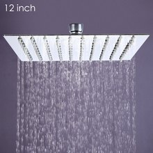 12 inch Ultra-thin Square Stainless Steel Rainfall Head  Shower Ducha Chuveiro 31cm * 31cm Head Rain Shower