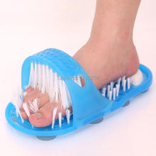 2pcs Vintage Shower Feet Foot Cleaner Scrubber Bath Brush Massager Blue Slipper Hot 6259 O4Z8E8