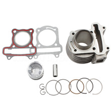 High Performance Big Bore Aluminum Cylinder Kit 60CC 44mm For 139QMB GY6 50cc ATV Scooter TAOTAO Znen Wangye Qingqi Qianjiang