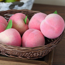 Home Furnishing Artificial Honey Peach Plastic Ecorative Fruit Photographic Props wholesale new free shipping(China)