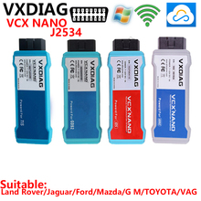 vxdiag vcx nano Cloud diagnostic scanner j2534 WIFI For JRL france Ford Mazda toyota GM VAS5054a VAG opel COM LandRover Jaguar
