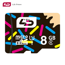 LD Wholesales Hot sale Memory Cards Micro SD Card 8GB class6 Microsd TF card Pen drive Flash