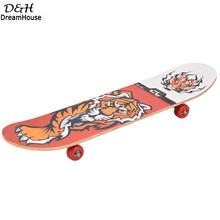 2017 Cool 4 Wheels Longboard Complete Skateboard Maple Wood Tiger Pattern Design Long Board Street Skate Board Patines 4 Ruedas