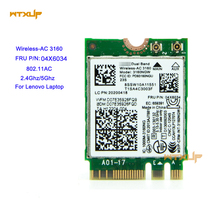 Dual Band Wireless-AC 3160NGW FRU 04X6034 wifi + Bluetooth 4.0 NGFF Network Card 2.4GHz/5GHz for lenovo notebook Intel vPro/WIDI