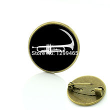 2017 Sale Brooches For Tromba Cornetto Musicians Brooches Musical Instrument Keepsake Pin Novelty Tuba Art Photo Badge C 1387