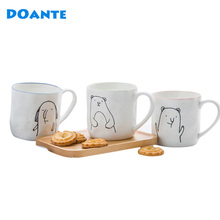 DOANTE Brand 450ML Ceramic Coffee Mug Handgrip Tea Water Cup Moomin Beer Milk Cup Cartooon Mugs Drinking Water Bottle