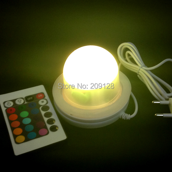 8.5cm Free Shipping Waterproof IP68 remote controller Inductive Charging LED lighting 2016<br>