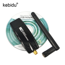 NEW 300Mbps USB Wireless WiFi Adapter WiFi Network Adapter Lan Card with External Antenna for Laptops PC Networking Accessories(China)