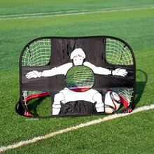 Sport Portable Folding Football Soccer Training Net Kicking Door Fixed to the Ground For Kids Adults(China)