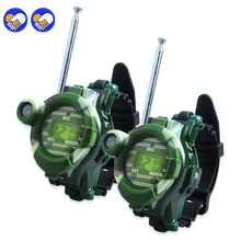 A toy A dream 2 PCS Hot Selling Way Radio Walkie Talkie Kids Child Spy Wrist Watch Gadget Toy C0A51(China)