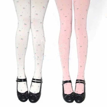 Buy Cherry jacquard tights pantyhose slim cartoon tight cute cosplay princess lolita tight Japan high quality tights free shipping