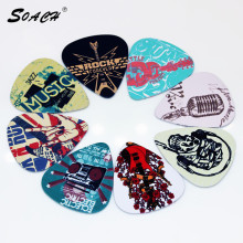 SOACH 10pcs/Lot 1.0mm thickness guitar strap guitar parts Singing Rock gestures music elements mixed pattern guitar picks(China)