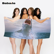 Babaite Sea Animals Sea Horse Jellyfish Turtle Shark Luxury Printing Quick-Drying Bath Beach Towels Swimming Wrap Kids Blankets