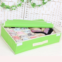 15 Grids Foldable Divider Storage Bra Box Non-woven Fabric Folding Cases Necktie Socks Underwear Clothing Organizer Container