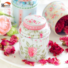 1pcs New Europe type style Tea caddy receive box candy storage box wedding favor tin box cable organizer container household(China)